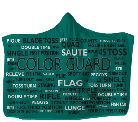 Colorguard Hooded Blanket Choose Your Color