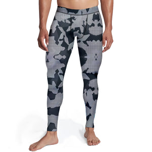 Men's Digital Grey Camo Tights