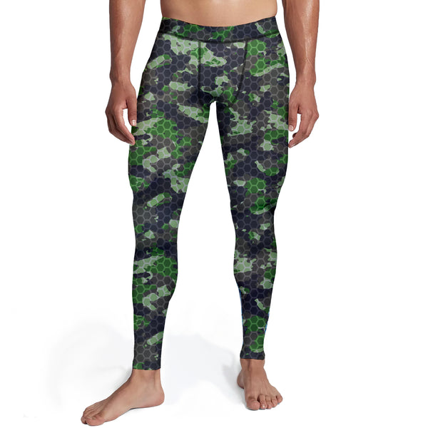 Men's Army Hex Camo Tights,S / Soft Lycra / Multicolored