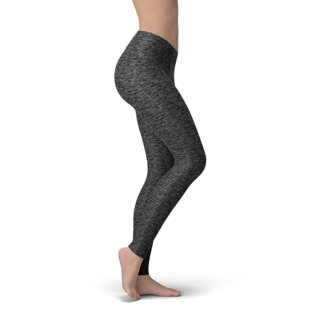 Solid Heather Black Buttery Soft Leggings
