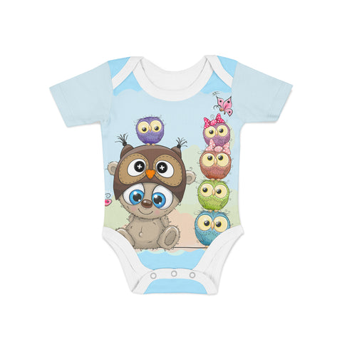 Infant Little Owl Onesie,Preemie / Multicolored / Buttersoft