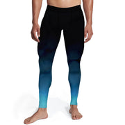 Men's Black Aqua Ombre Tights