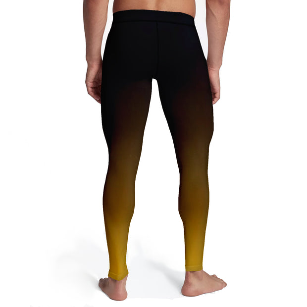 Men's Black Gold Ombre Tights