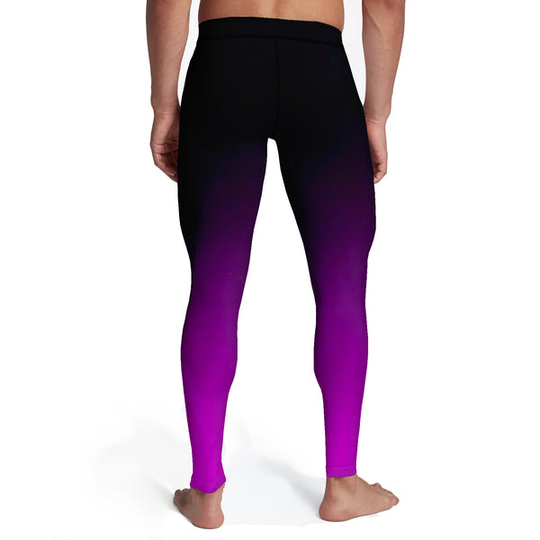 Men's Black Pink Ombre Tights
