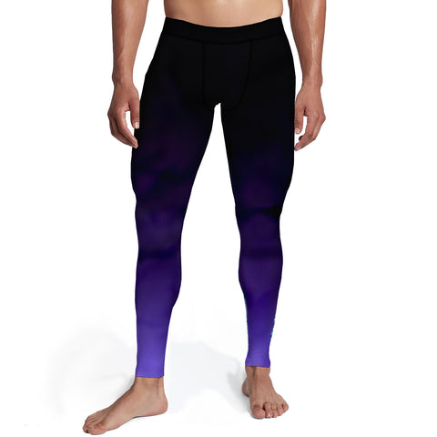 Men's Black Purple Ombre Tights