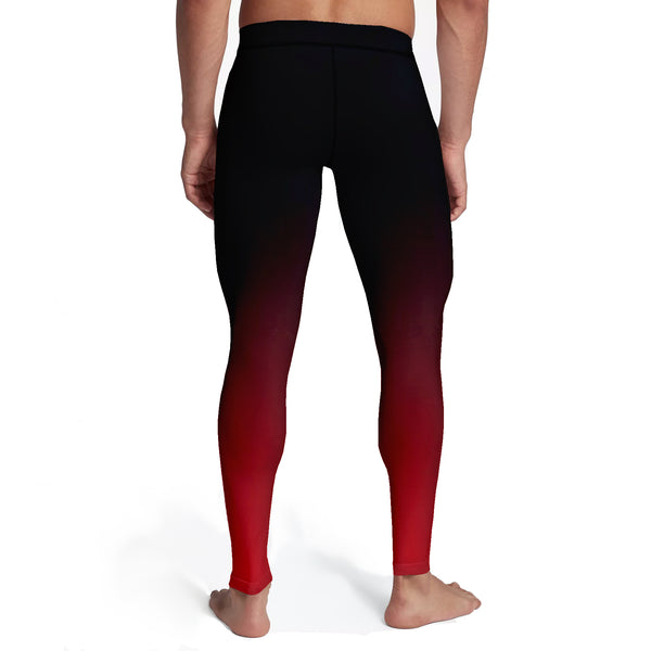 Men's Black Red Ombre Tights