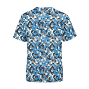 Men's Blue Camo T-Shirt