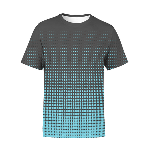 Men's Blue Dots T-Shirt,S / Multicolored