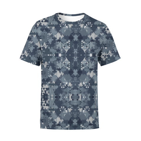 Men's Digital Blue Camo T-Shirt,S / Multicolored