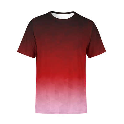 Men's Crimson Triangles T-Shirt