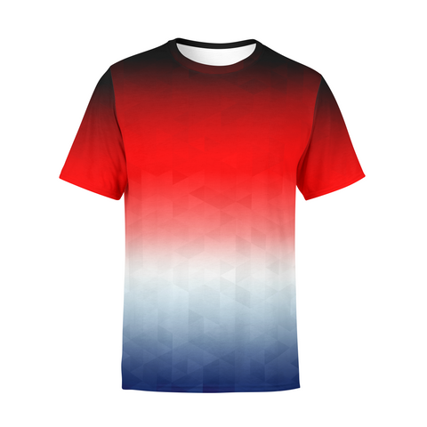 Men's Patriotic Triangles T-Shirt,S / Multicolored