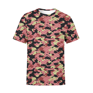 Men's Pink Stone Camo T-Shirt,S / Multicolored