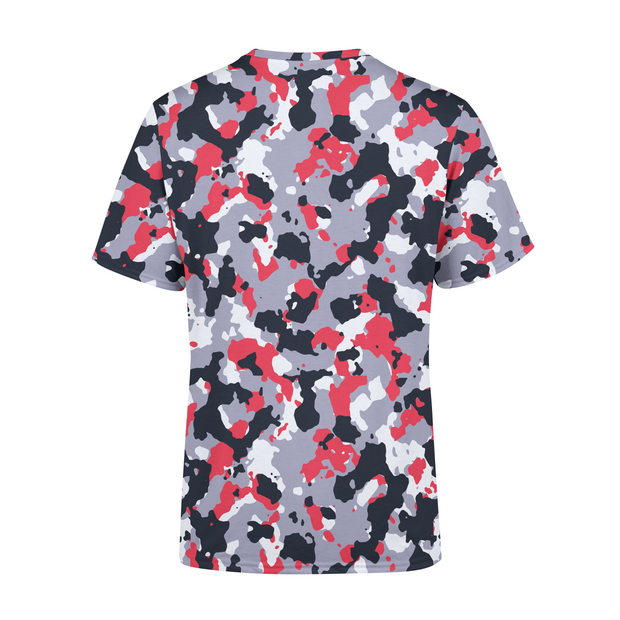 Men's Red White Camo T-Shirt