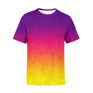 Men's Sunset Triangles T-Shirt,S / Multicolored