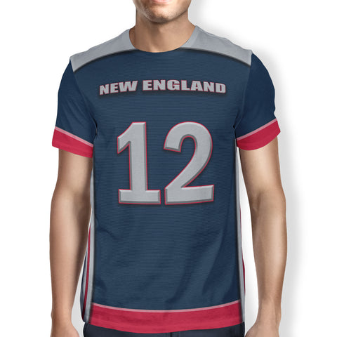 Men's New England T-Shirt - Customize Your Number