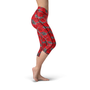 Nellie Yoga Drawn Roses,XS / Black / Soft Lycra