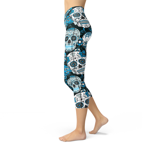 Nellie Yoga Blue Sugar Skulls