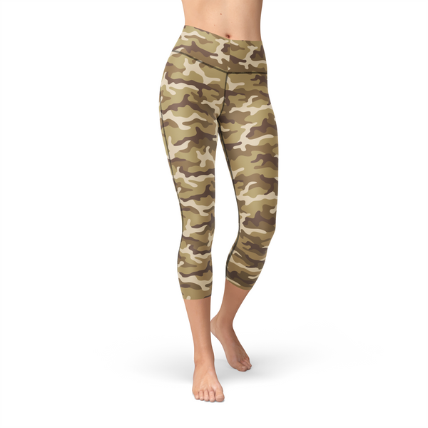 Nellie Yoga Tan Camo,XS / Multicolored / Soft Lycra