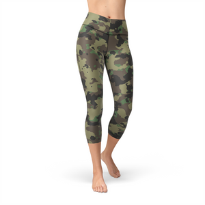 Nellie Yoga Dark Green Camo,XS / Multicolored / Soft Lycra
