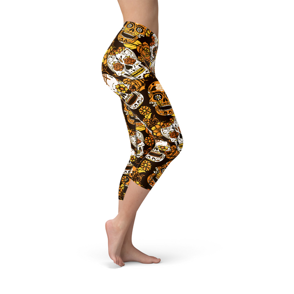 Nellie Yoga Orange Sugar Skulls