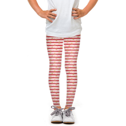 Youth Pink Holiday Stripes