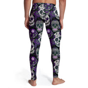 Men's Purple Sugar Skull Tights