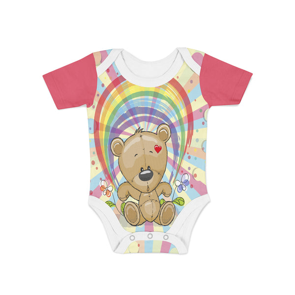 Rainbow Teddy Onesie,Preemie / Multicolored / Buttersoft