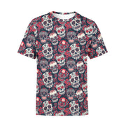 Red and Black Sugar Skulls T-Shirt
