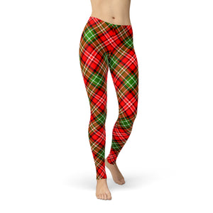 Tonya Red Green Plaid,XS / Red / Buttery Soft