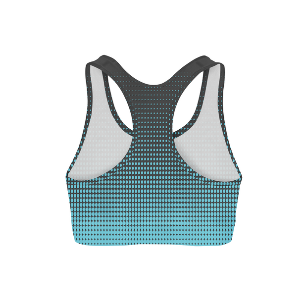 Blue Dots Sports Bra