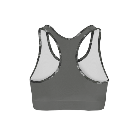 Black Hex Camo Back Color Sports Bra