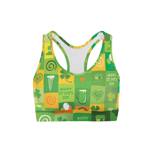 Shamrock Blocks Sports Bra