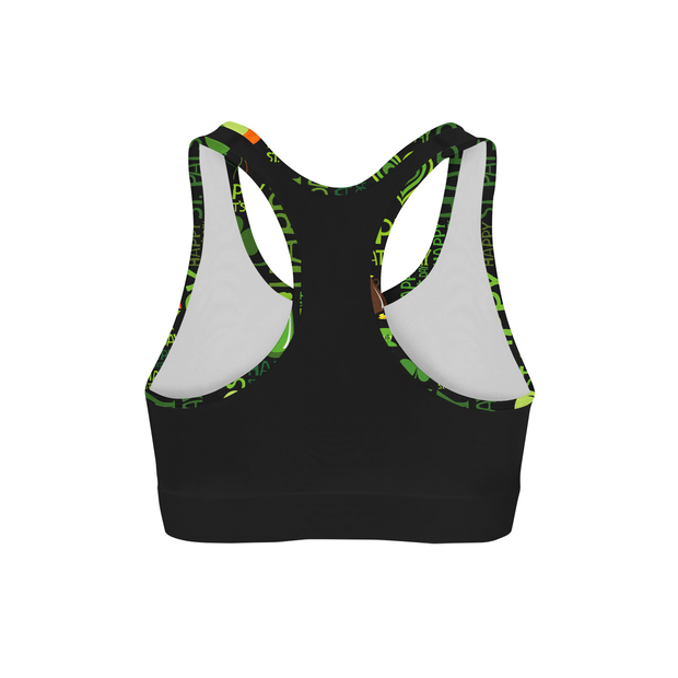 Happy St Patricks Back Color Sports Bra