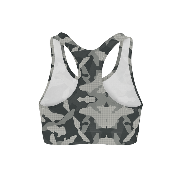 88e4aa8968 Digital Grey Camo Sports Bra