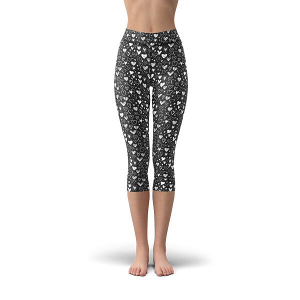 Nellie Yoga Black White Hearts