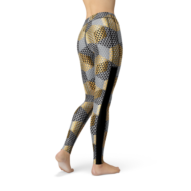 Veronica Mesh Golden Geometric