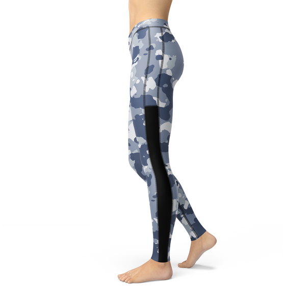 Veronica Mesh Dark Blue Camo