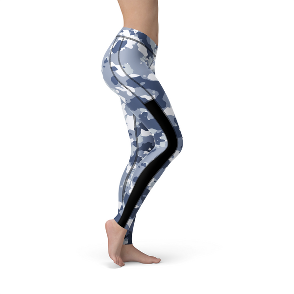 Veronica Mesh Dark Blue Camo,XS / Multicolored / Soft Lycra