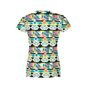 Women's Colorful Tribal T-Shirt