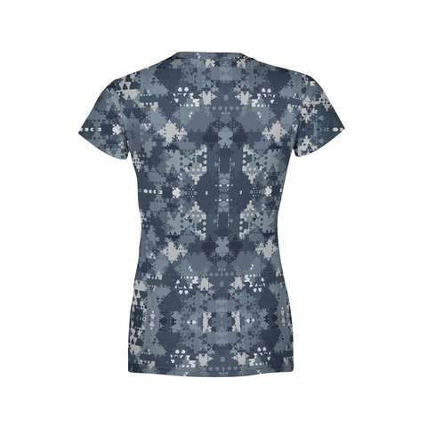 Women's Digital Blue Camo T-Shirt