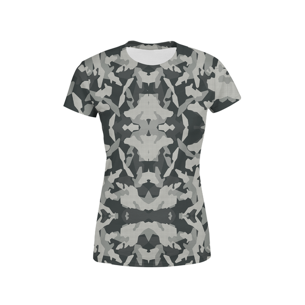 Women's Digital Grey Camo T-Shirt