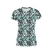 Women's Green White Camo T-Shirt