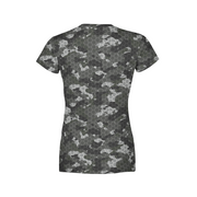 Women's Black Hex Camo T-Shirt