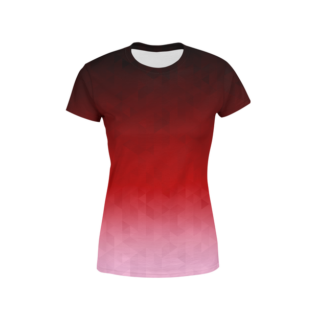 Women's Crimson Triangles T-Shirt