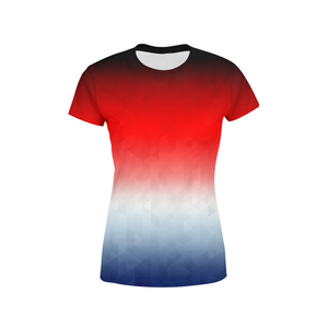 Women's Patriotic Triangles T-Shirt,XXS / Multicolored