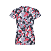 Women's Red White Camo T-Shirt