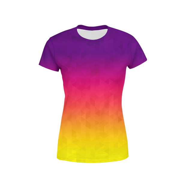 Women's Sunset Triangles T-Shirt