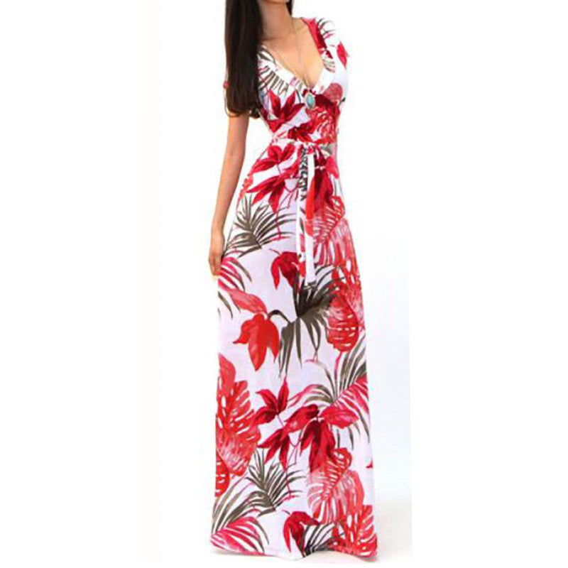 Women's Floral Print  Beach Dress