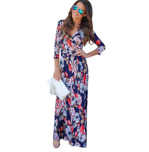 Floral Print Sundress 2017 Summer
