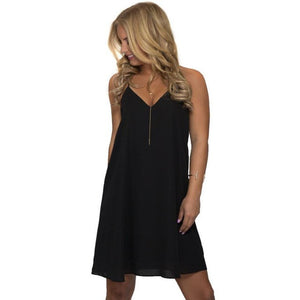 Tank Top Sexy Chiffon V-Neck Sundress